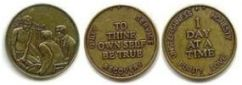 Specialty Slogan Bronze Recovery Medallions