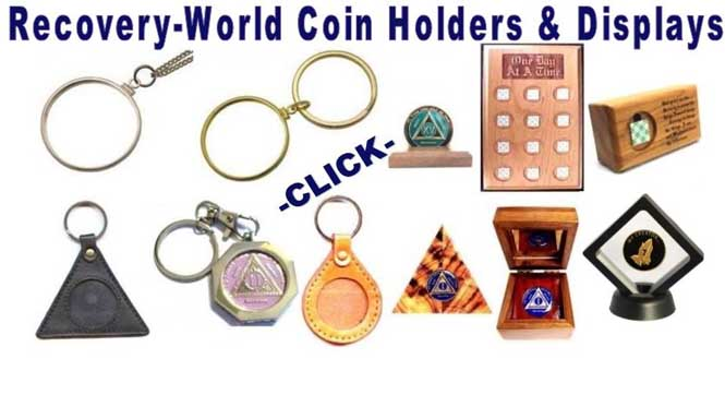 AA coin holders and recovery coin displays