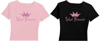 Sober Princess recovery shirt