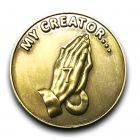 7th Step Prayer Reminder Antique Bronze AA Coin
