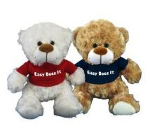 Recovery Bear White or Brown - choice of red, black, blue or pink shirt