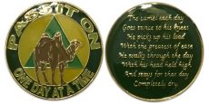 Tri-Plate Pass it on Camel AA Coin with Camel Poem