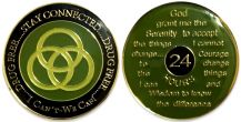 "Tri-Plate Drug Free ""I Can't - We Can"" Recovery Coin"