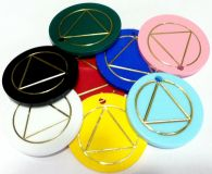 AA Plastic Chips - Both Sides circle triangle