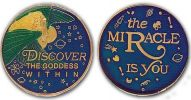 Discover the Goddess within- The Miracle is You Recovery Medallion