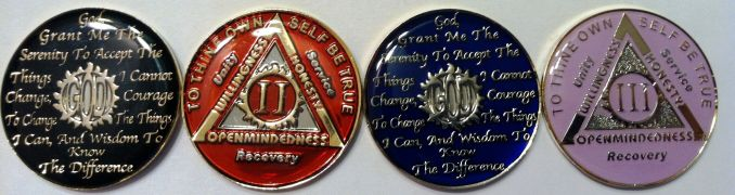Tri plated anniversary AA Coins