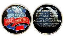 Just for Today-Keep Coming Back Shield of Protection Recovery Coin