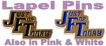 Just For Today Lapel Pin - Choice of colors
