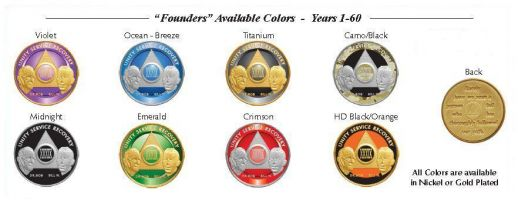 Custom Painted Founders Anniversary AA Coin