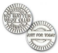 No Matter What Club Nickel Plated Coin