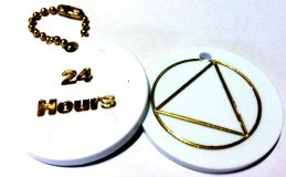 Circle Triangle 24 Hour Chip-Key Chain