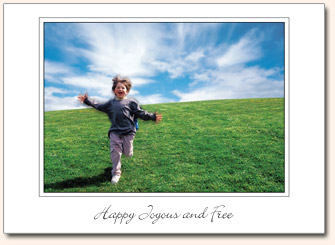 Recovery Greeting Cards - Happy Joyous and Free