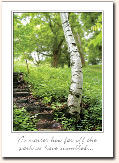 Recovery-Greeting-Cards - No matter how far off the path..