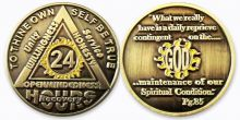 24 Hour Daily Reprieve Sunlight of the Spirit AA Coin