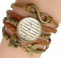 Brown Leather Serenity Prayer Bracelet