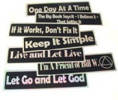 12 Step Recovery Bumper Stickers