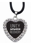 Unity Service Recovery Heart Pendant Necklace