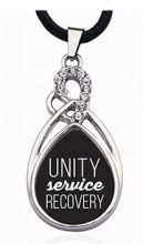 Unity Service Recovery Tear Drop Necklace